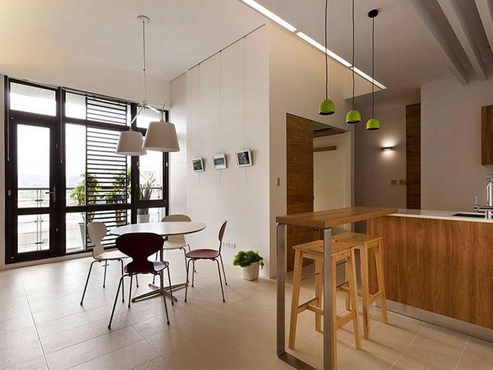 清新原木北欧风格一居餐厅设计装修案例图