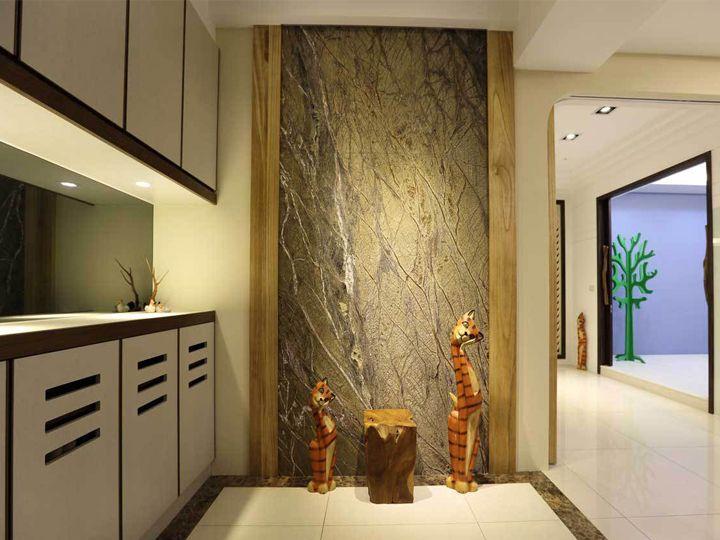精简现代小户型单身公寓玄关鞋柜设计装潢图_装修百科