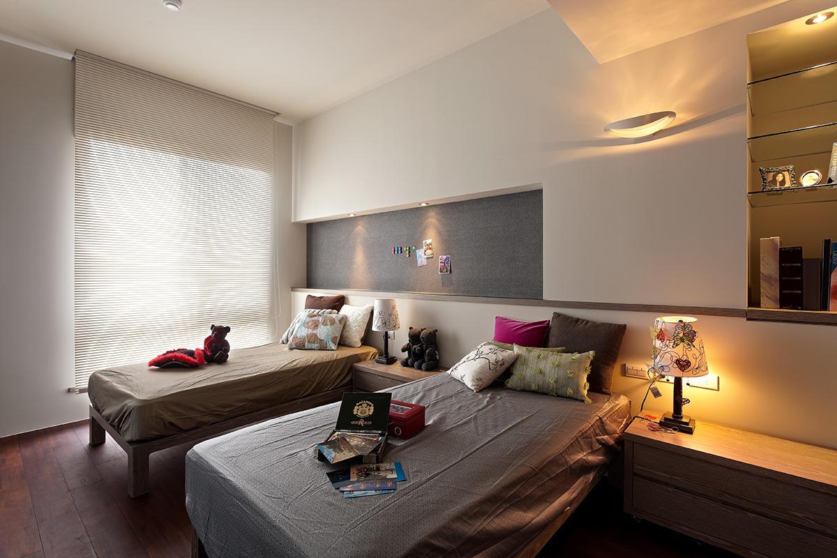 简约现代风格卧室创意收纳背景墙设计装修欣赏图_装修百科