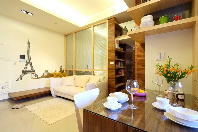58平小戶型簡約小清新家庭木質二居室設計