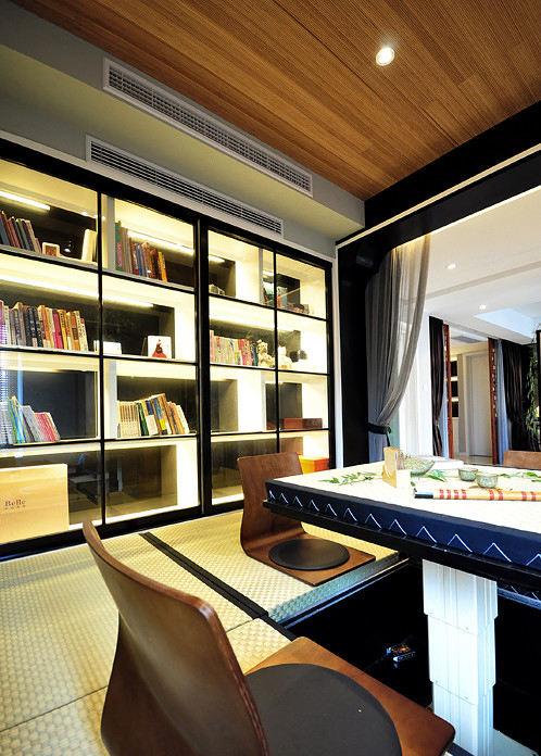 儒雅新中式书房书柜设计装修图_装修百科