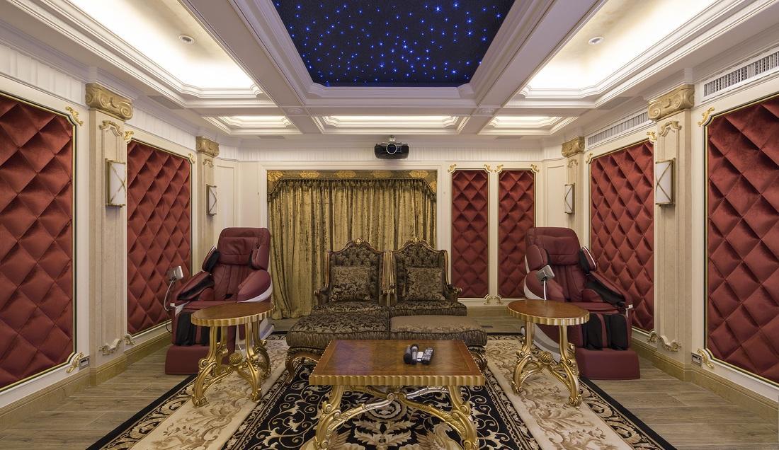 奢华欧式风格别墅家庭影院设计装修效果图_装修百科