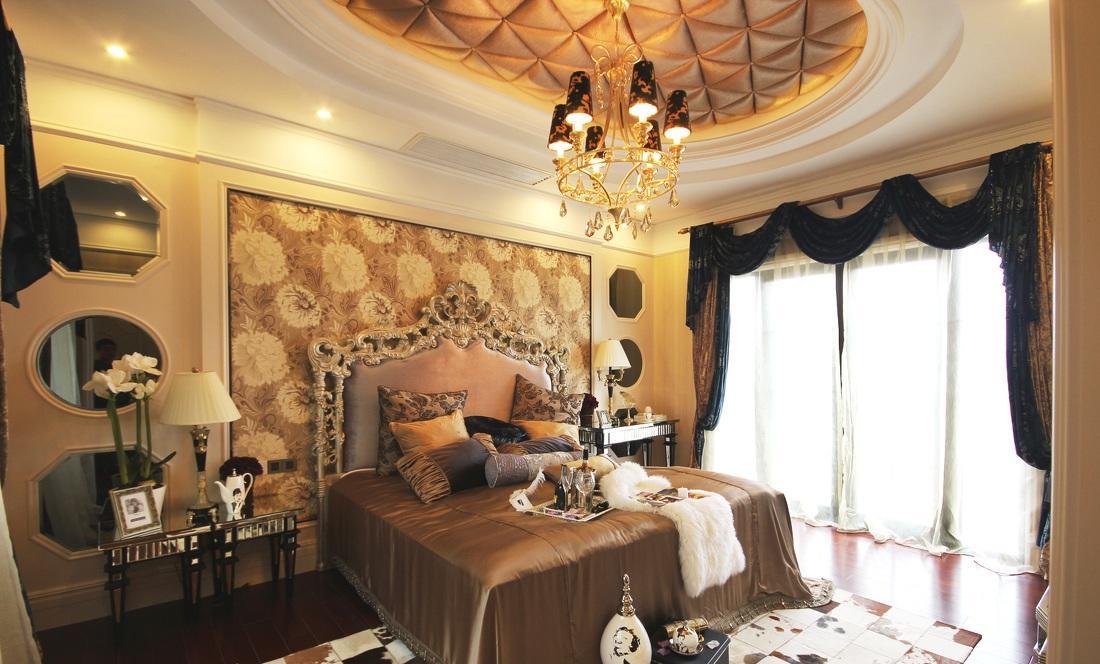 奢华贵族气息巴洛克欧式卧室装饰效果欣赏图_装修百科