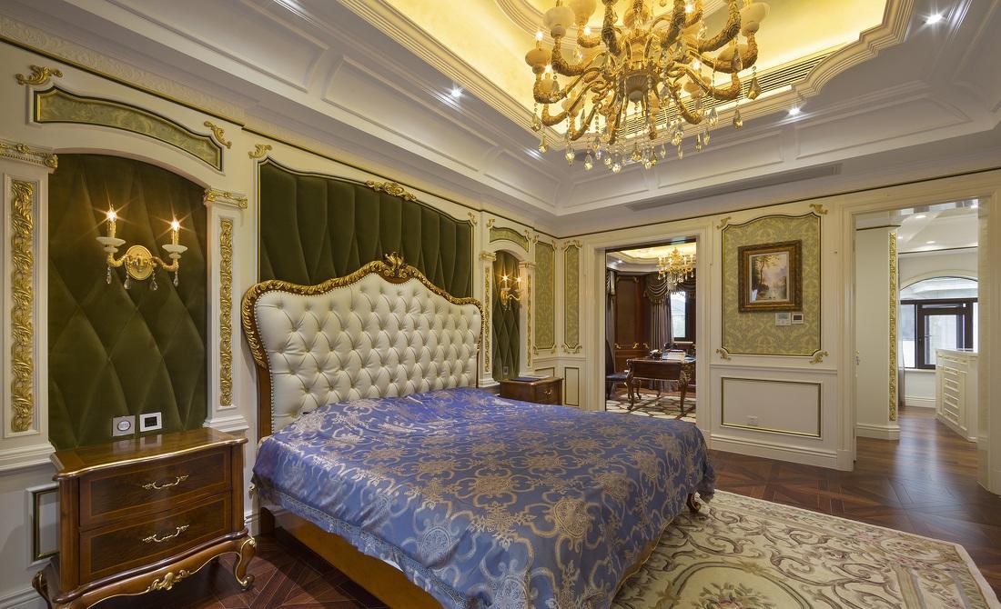 豪华鎏金古典欧式风格别墅卧室设计装修图_装修百科