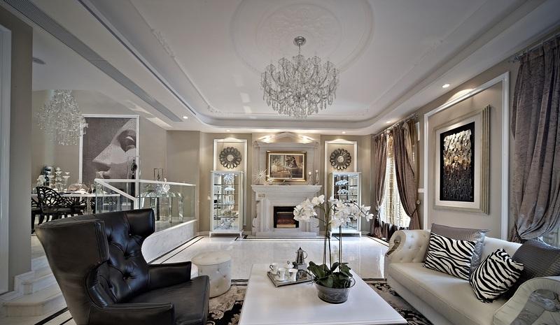 奢華現代新中式混搭別墅裝修設計效果圖