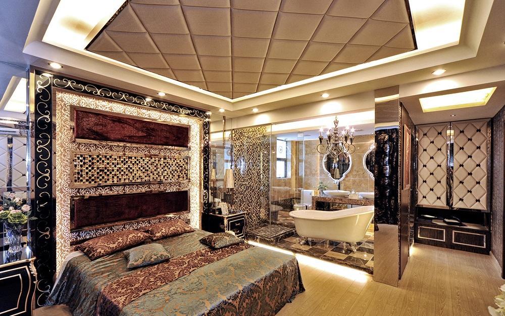 华贵奢华摩登欧式风格卧室设计装修欣赏图_装修百科