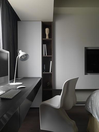简洁素雅现代风格三居室装修效果图