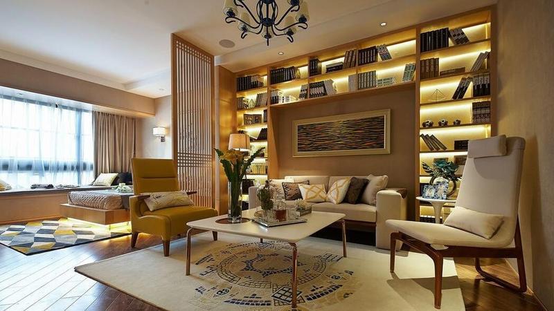 90平米浪漫現代簡約大二居室內設計裝修案例