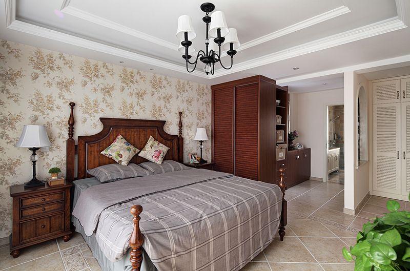 浪漫复古简欧风格卧室整体设计装修效果图