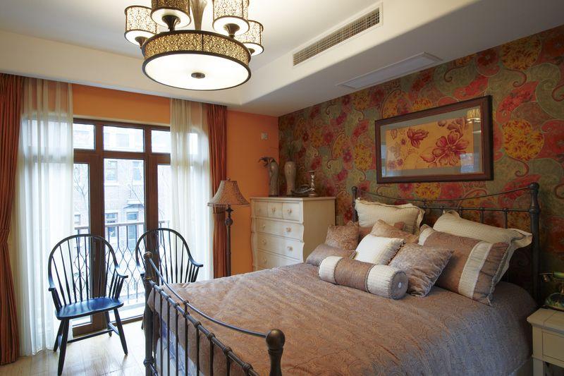 复古欧式乡村风格卧室背景墙装修效果图