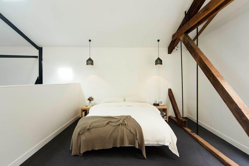 個性現代簡約loft公寓臥室設計效果圖