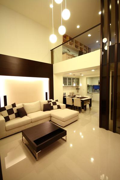 大气咖啡色简中式客厅沙发装饰效果图_装修百科