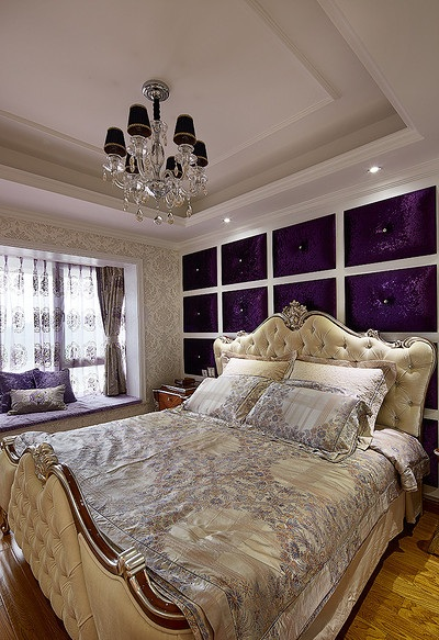 华丽高雅欧式风格二居主卧室装饰图例_装修百科