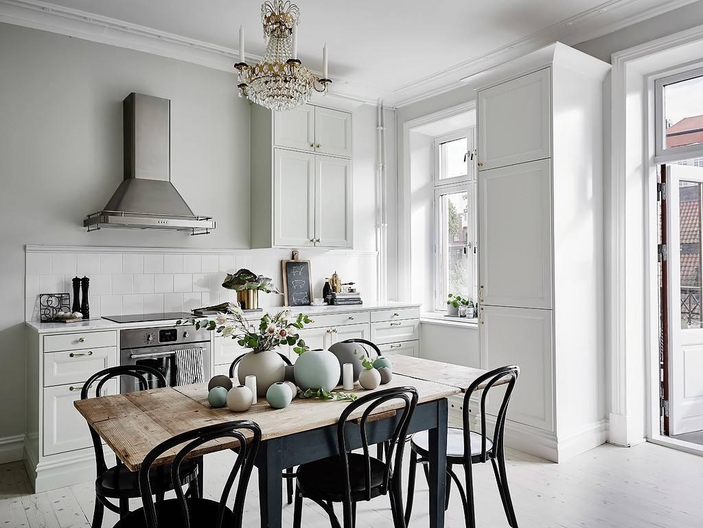 时尚北欧装修风格餐厨房设计图_装修百科