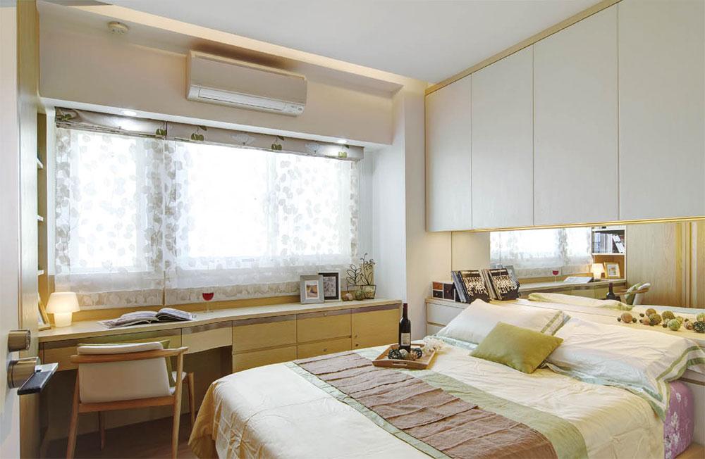 小清新简约北欧风格卧室床头收纳柜设计图 _装修百科图片
