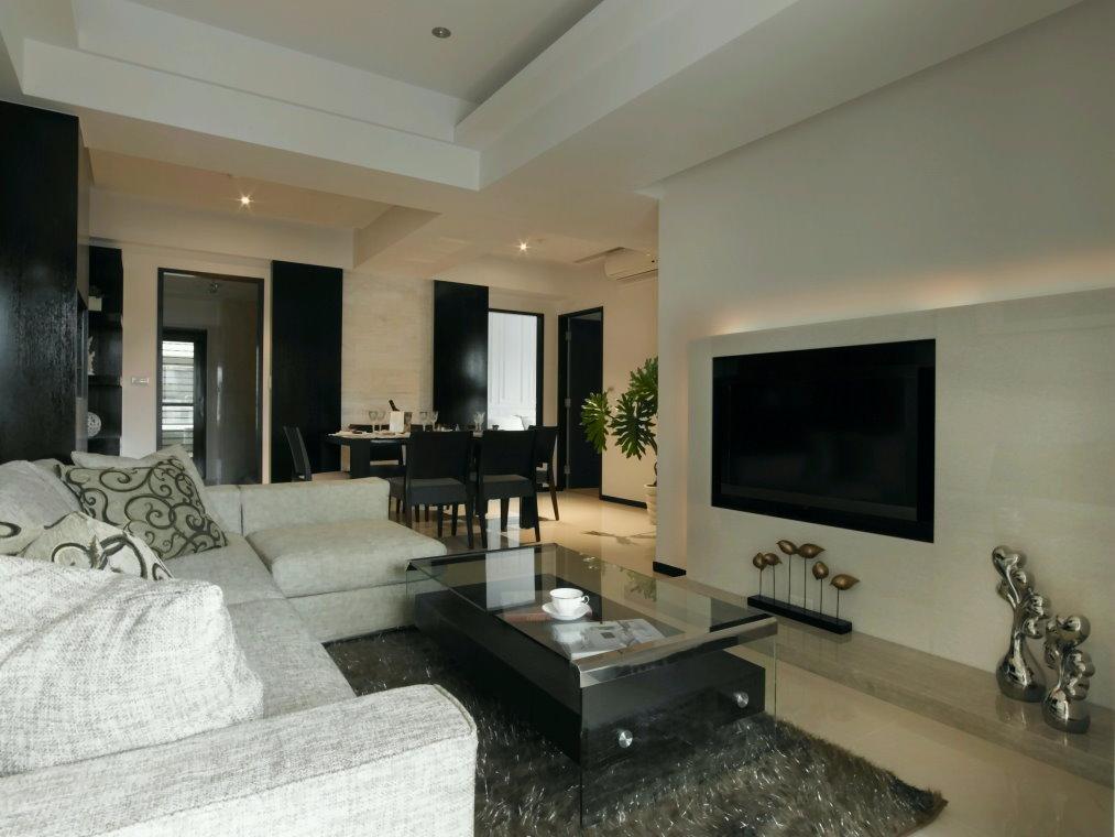 简约现代风小三居室家庭装修效果图欣赏