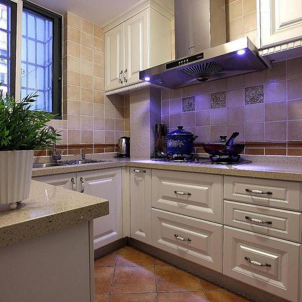 4平簡約美式風格廚房設計裝修案例圖
