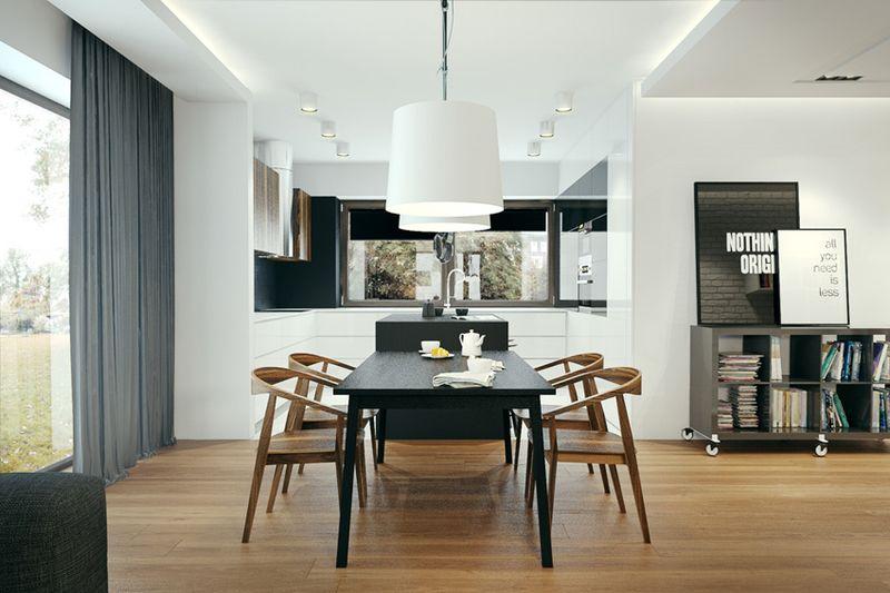 时尚现代设计风格别墅餐厅落地窗设计效果图_装修百科