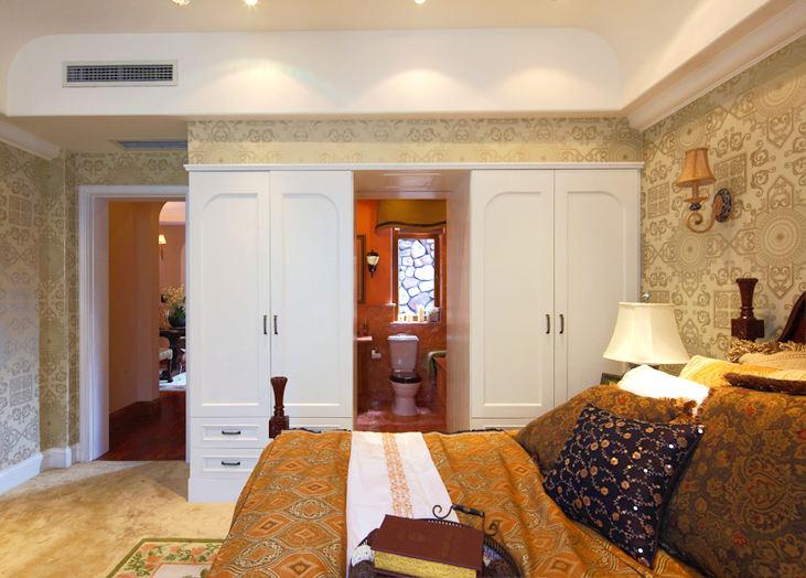 装修百科 装修效果图 装修美图 白色低奢欧式风格主卧室衣柜设计装修