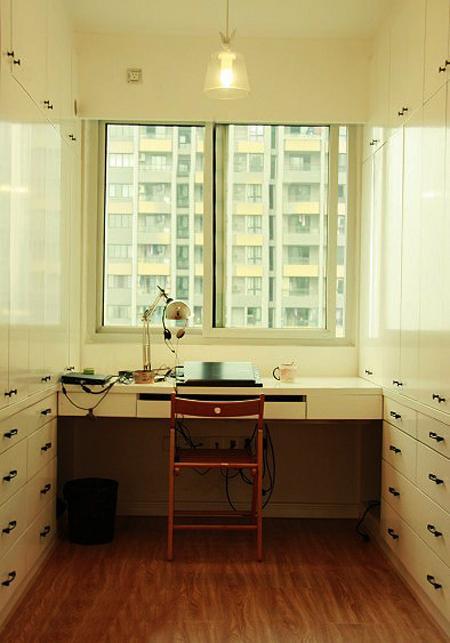 时尚简洁现代小户型书房电脑桌设计图_装修百科