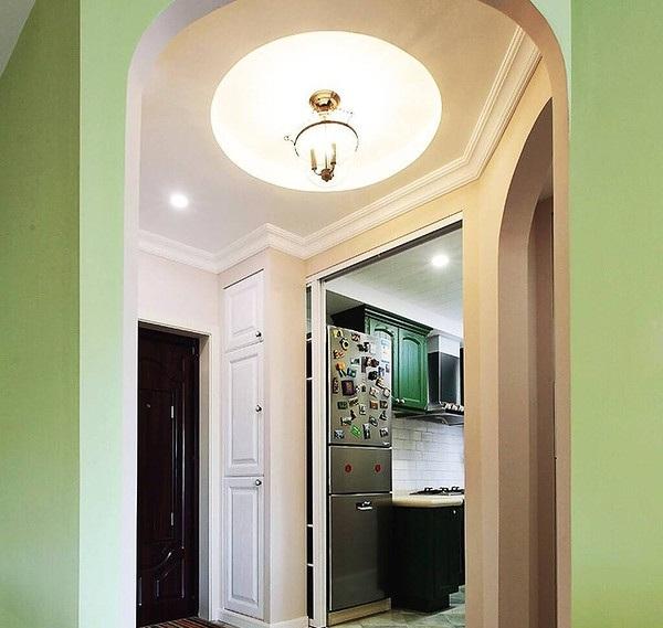绿色厨柜装修效果图