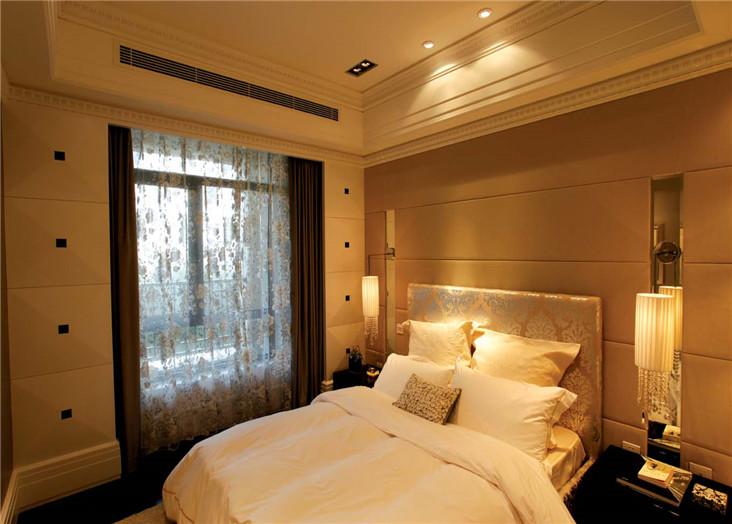 温馨潮流欧式风格卧室床头软包装饰效果图_装修百科