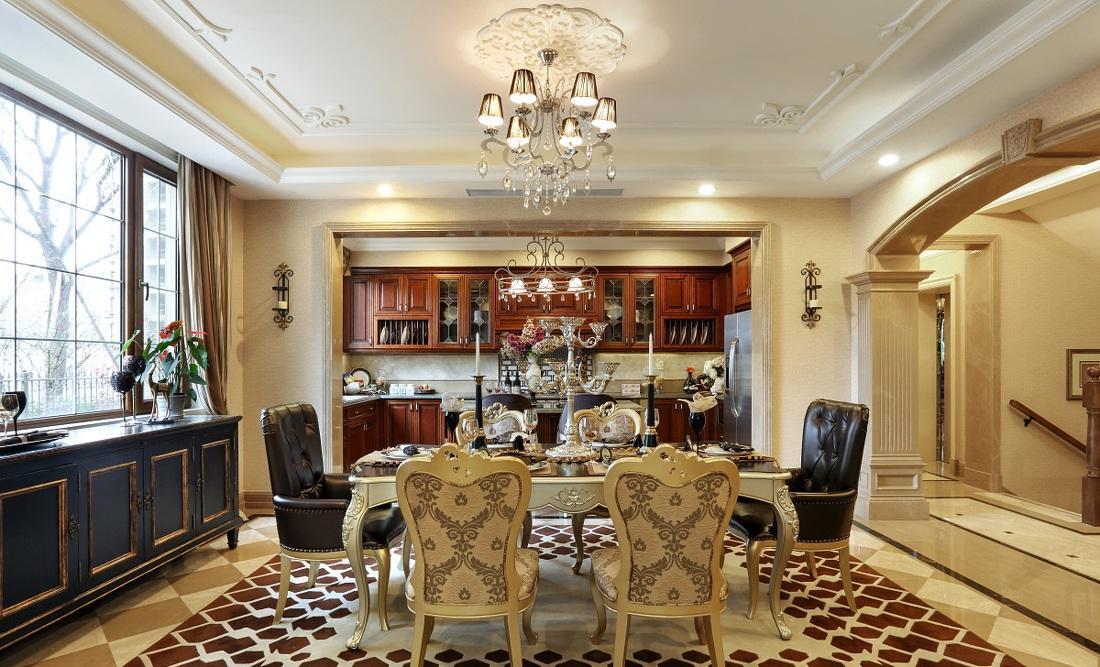 装修百科 装修效果图 装修美图 古典大气豪华欧式风格餐厅餐桌椅装饰