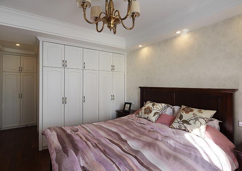 2017粉色美式风格衣柜卧室装修效果图大全 2017粉色美式风格衣柜卧
