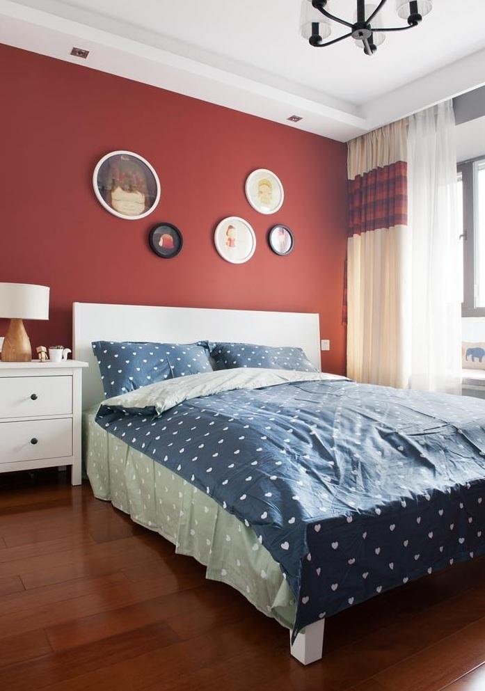 大膽美式現代設計風格臥室油漆背景墻效果圖_裝修百科