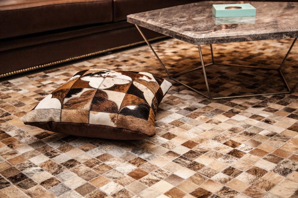 欧式豪华装修设计风格室内马毛皮地毯效果图_装修百科
