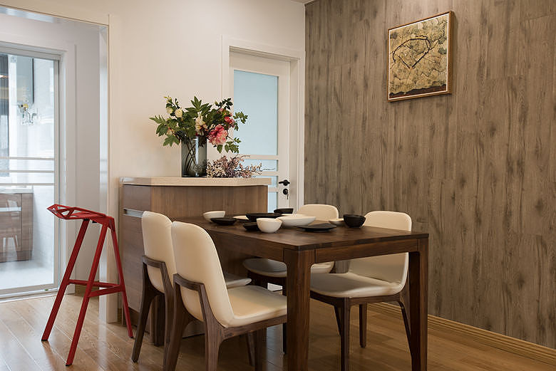 清新实用北欧原木风餐厅实木桌椅装修设计效果图_装修百科