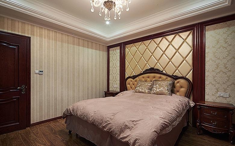 古典欧式风格卧室床头软包装饰设计效果图_装修百科