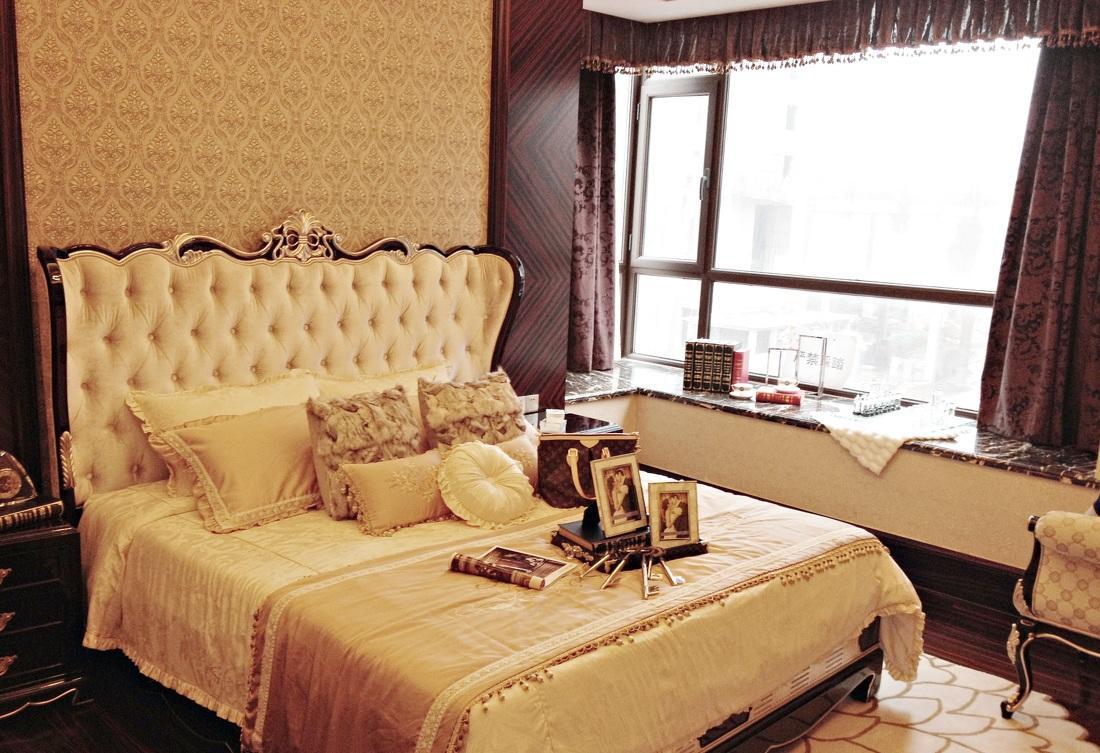 古典欧式奢华风卧室飘窗设计欣赏图片_装修百科