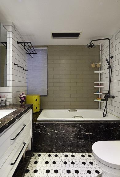 黑白灰北歐風格衛生間衛浴掛件裝飾效果圖