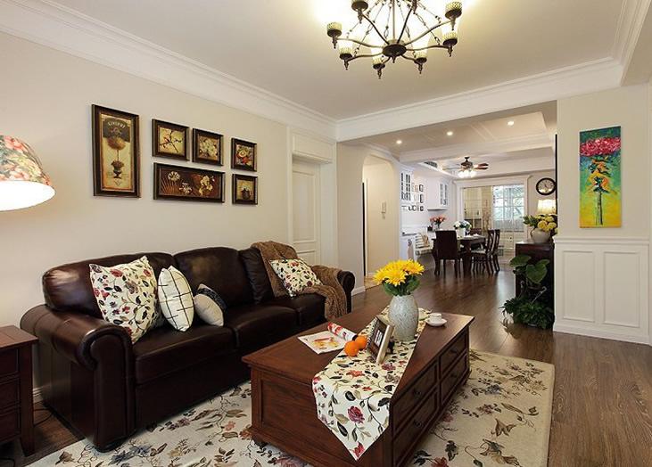 75平休闲美式小户型居家设计装修图_装修百科