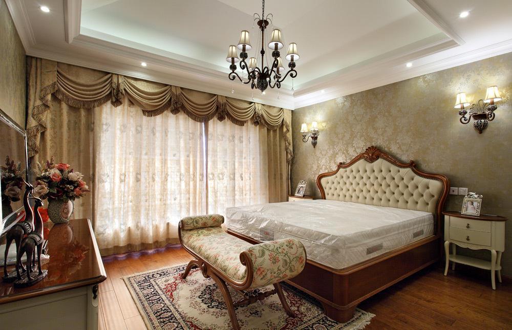 时尚欧式复古风格卧室灯具装饰效果图_装修百科