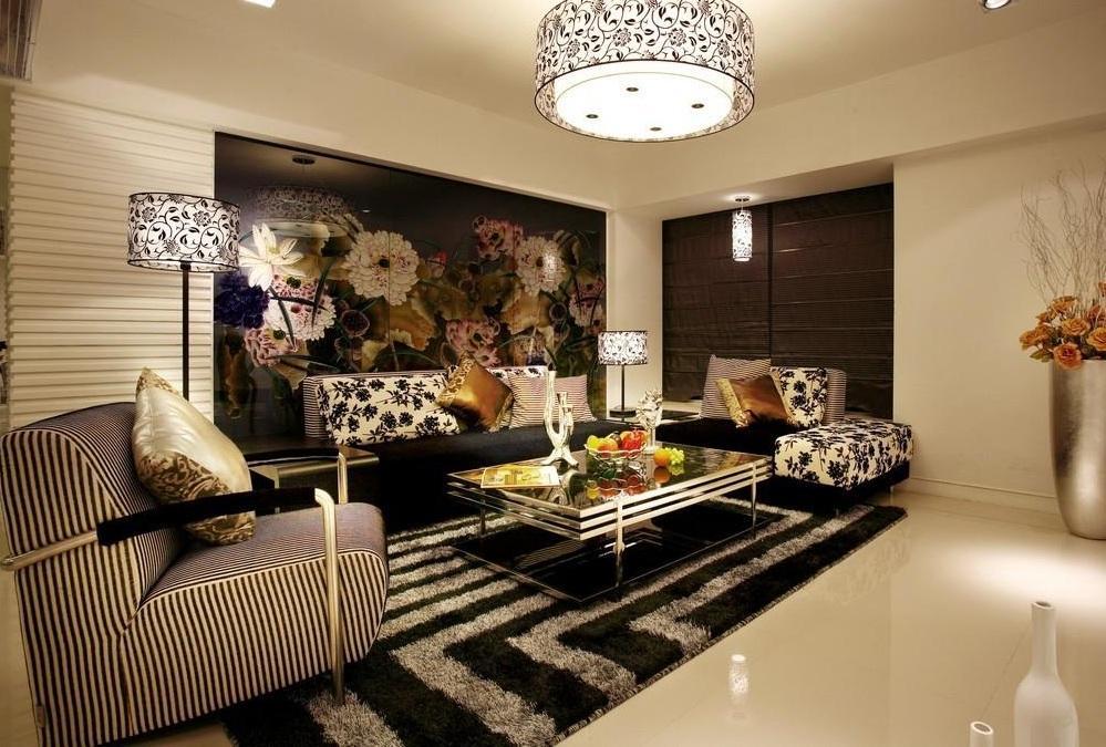 78平小户型时尚现代新古典两居室装修案例欣赏