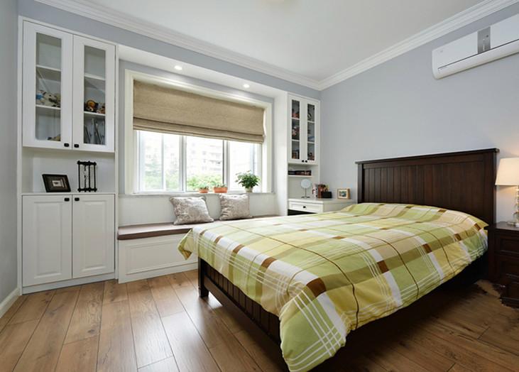现代美式风格卧室休闲飘窗设计装修图_装修百科