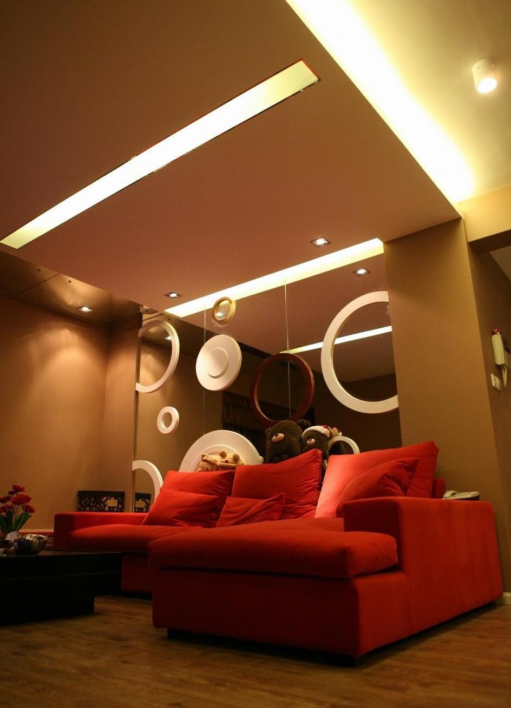 58平咖色系現代時尚簡約小戶型二居室設計效果圖
