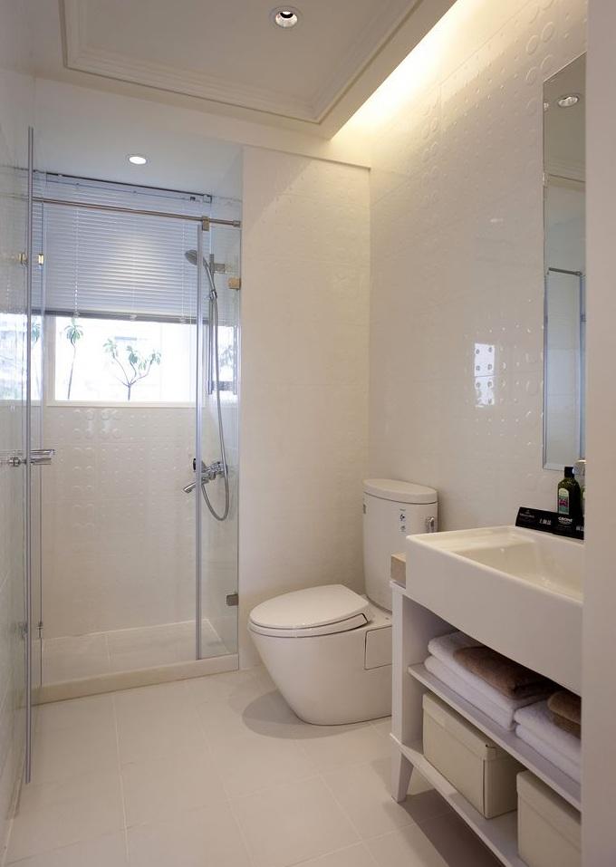 纯白时尚现代风格卫生间设计装潢效果图_装修百科