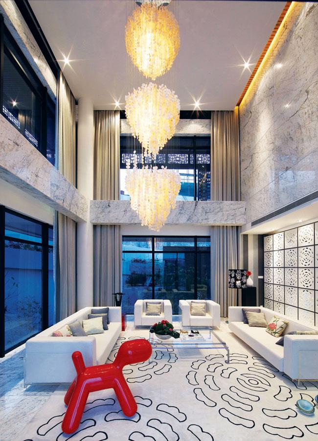 奢华时尚现代别墅设计装修案例图