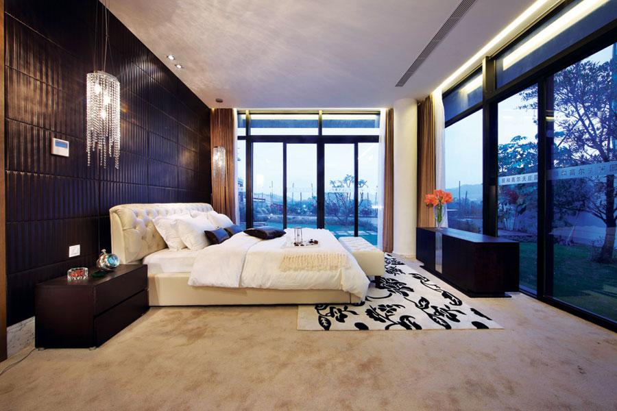 现代新中式风格休闲别墅卧室装修效果图_装修百科