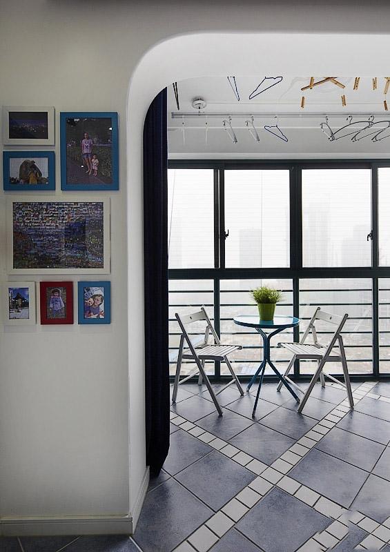 经典地中海阳台相片墙效果图
