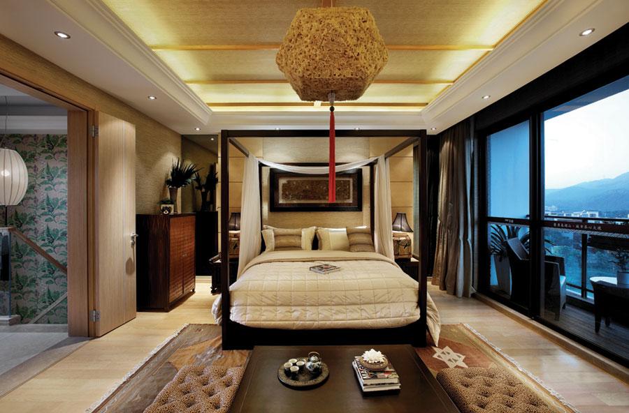 東南亞風格復式隔斷臥室家居裝飾圖片