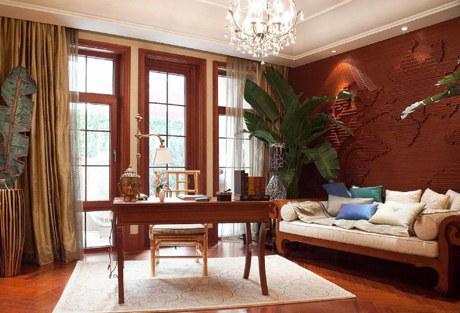 東南亞風格室內書房裝修設計圖片