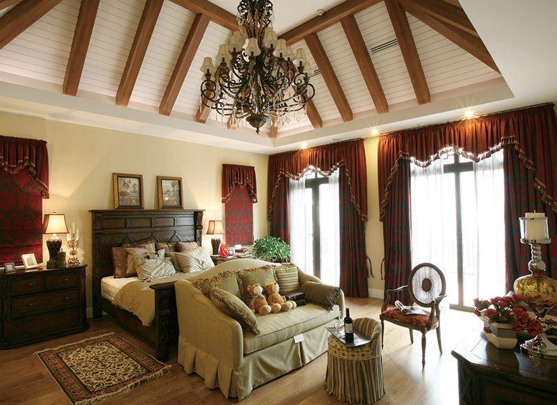 复古旧色调美式乡村田园风格别墅装修设计案例