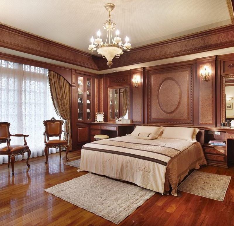 典雅歐式別墅臥室背景墻效果圖