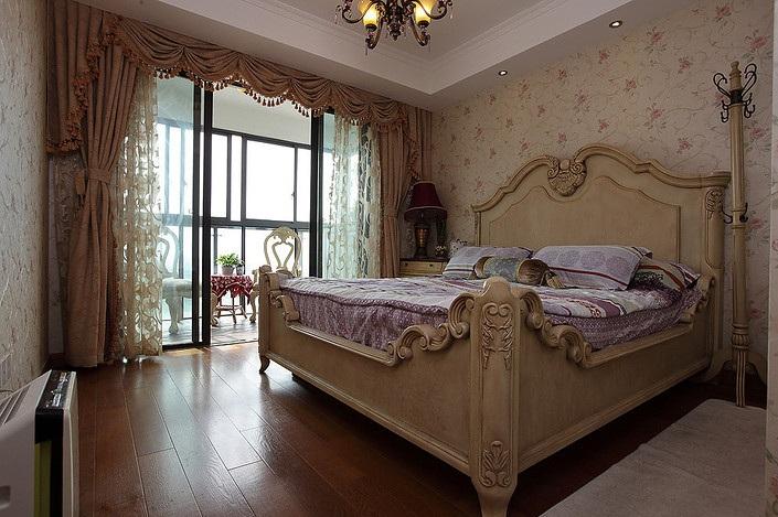 华丽欧式复古卧室小阳台设计效果图_装修百科