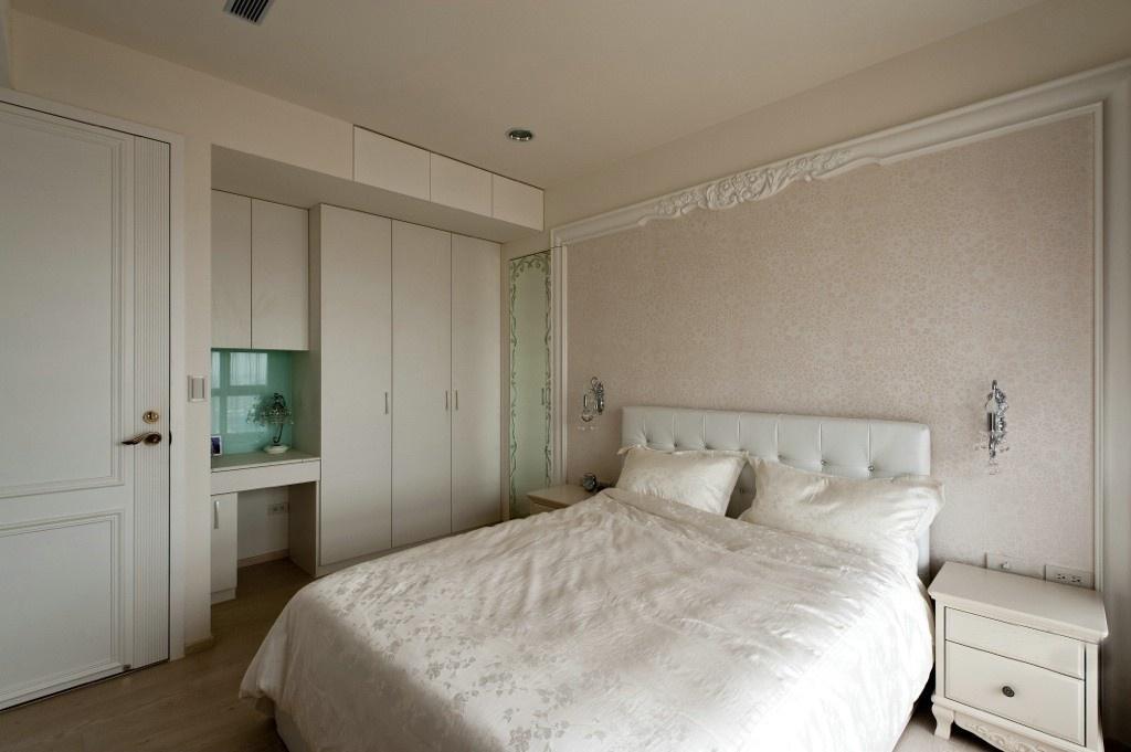 纯白浪漫简欧风格二居室卧室装饰效果图_装修百科