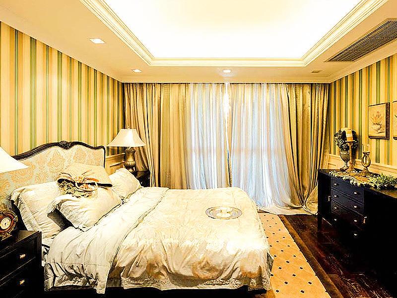 时尚复古奢华欧式卧室设计装饰效果图